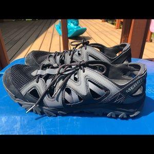 Merrell Select Wet Grip Black Gray Sandals Size 13